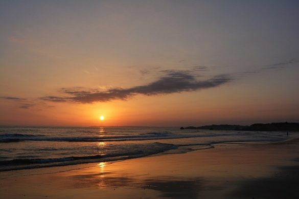 Zachód słońca nadAtlantykiem.