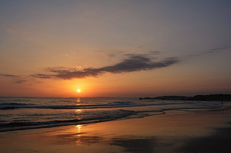 Zachód słońca wPortimão.