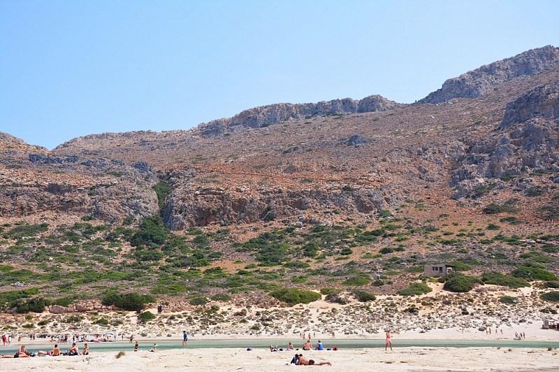 Skamieniała plaża nalagunie Balos.