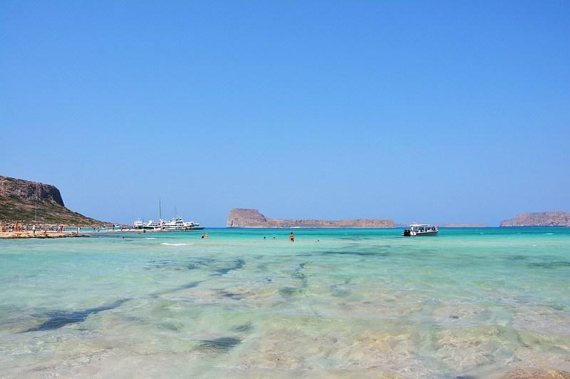 Krystaliczna, turkusowa woda naplaży nalagunie Balos.