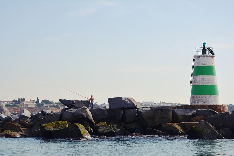 Latarnia morska Farol de Portimão Molhe Este.