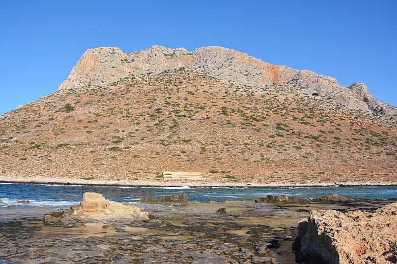 Wzgórze górujące nadplażą Stavros - Półwysep Akrotiri.