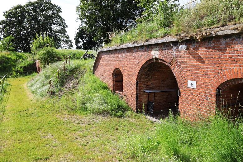 Fort IV wToruniu - widok przy wałach.
