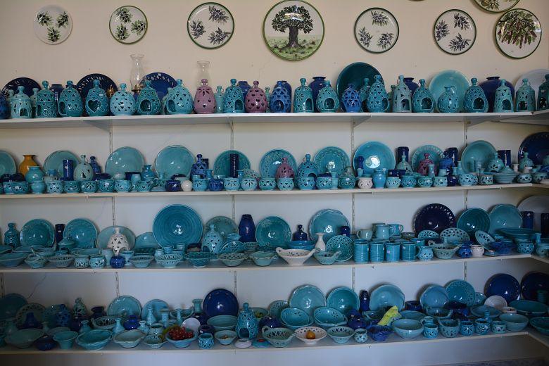 Traditional ceramic workshop in Maleme.